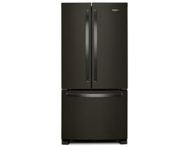 "Whirlpool 33"" 22 cu. ft. French Door Refrigerator in Black Stainless Steel WRF532SMHV"