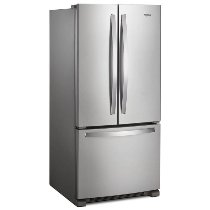 Whirlpool 33 inch 22.1 Cu. Ft. French Door Refrigerator with LED Lighting in Stainless Steel WRF532SNHZ