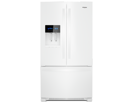 "Whirlpool 36"" 24.7 cu. ft. Freestanding French Door Refrigerator in White WRF555SDHW"