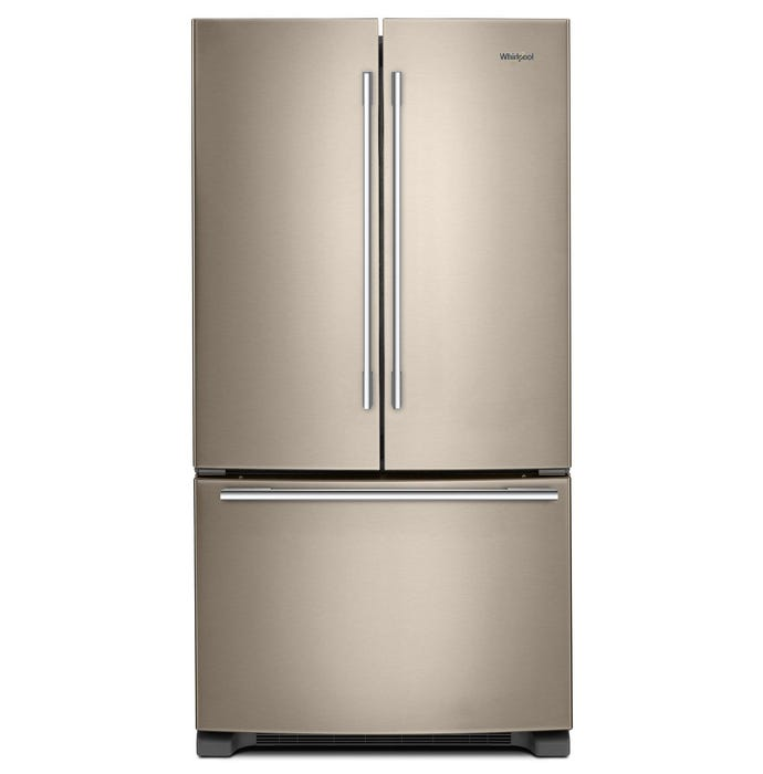 Whirlpool 33 inch 22 cu.ft. Wide French Door Refrigerator sunset bronze WRFA32SMHN