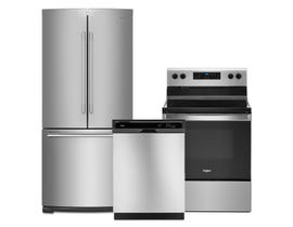 Whirlpool 3pc Appliance Package in Stainless Steel WRFA60SFHZ WDF330PAHS YWFE515S0JS