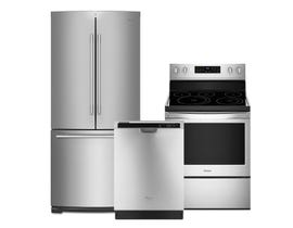 Whirlpool 3pc Appliance Package in Stainless Steel WRFA60SFHZ WDF540PADM YWFE550S0HZ