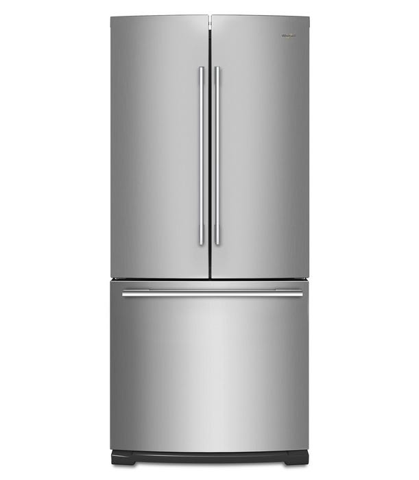 Whirlpool 30 inch 19.7 cu. ft. with LED Lighting French Door Refrigerator in Stainless Steel WRFA60SFHZ