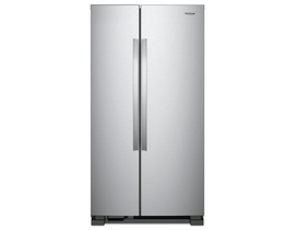 "Whirlpool 33"" 22 cu. ft. Side-by-Side Refrigerator in Stainless Steel WRS312SNHM"