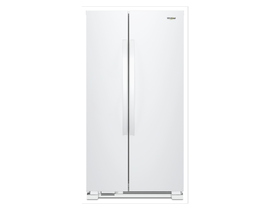 "Whirlpool 33"" 22 cu. ft. Side-by-Side Refrigerator in White WRS312SNHW"