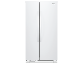 """Whirlpool 36"""" 25 cu. ft. Side-by-Side Refrigerator in White WRS315SNHW"""