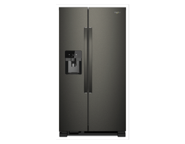 "Whirlpool 33"" 21 cu. ft. Side-by-Side Refrigerator in Black Stainless Steel WRS321SDHV"