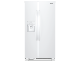 "Whirlpool 33"" 21 cu. ft. Side-by-Side Refrigerator in White WRS321SDHW"