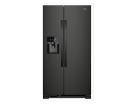 Whirlpool 36 inch 25 cu. ft. Side-by-Side Refrigerator in Black WRS325SDHB