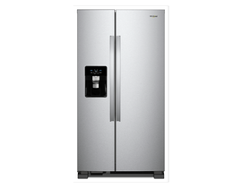 "Whirlpool 36"" 25 cu. ft. Side-by-Side Refrigerator in Stainless Steel WRS555SIHZ"