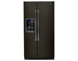 "Whirlpool 36"" 21 cu. ft. Counter-Depth Side-by-Side Refrigerator in Black Stainless Steel WRS571CIHV"