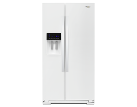 """Whirlpool 36"""" 21 cu. ft. Counter-Depth Side-by-Side Refrigerator in White WRS571CIHW"""