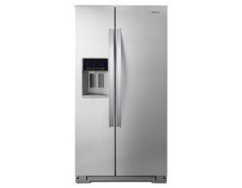 "Whirlpool 36"" 21 cu. ft. Counter-Depth Side-by-Side Refrigerator in Stainless Steel WRS571CIHZ"