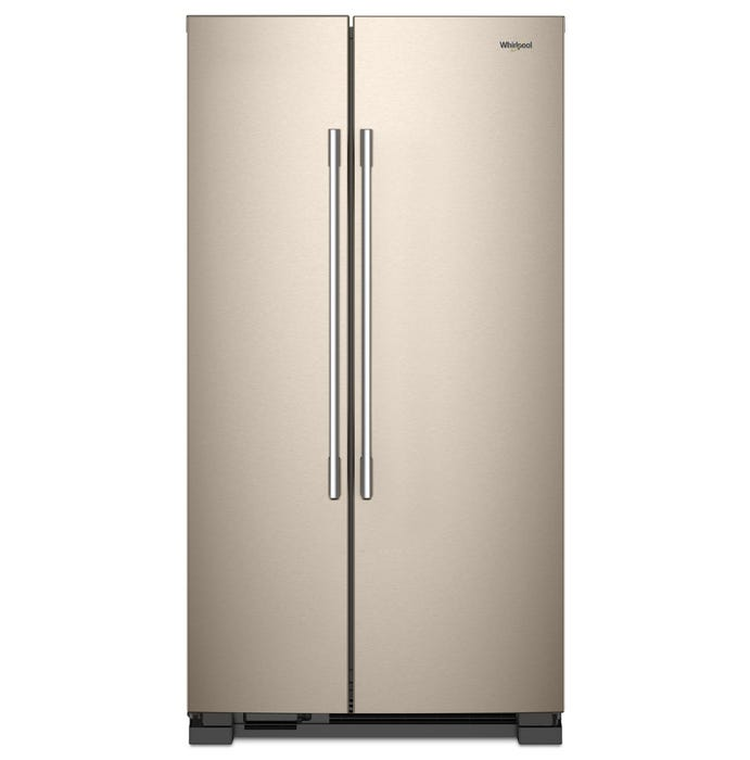 Whirlpool 36 inch 25 cu.ft. Wide Side-by-Side Refrigerator sunset bronze WRSA15SNHN