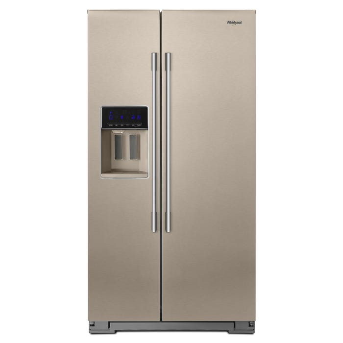 Whirlpool 36 inch 28 cu. ft. Wide Contemporary Handle Side-by-Side Refrigerator  sunset bronze WRSA88FIHN