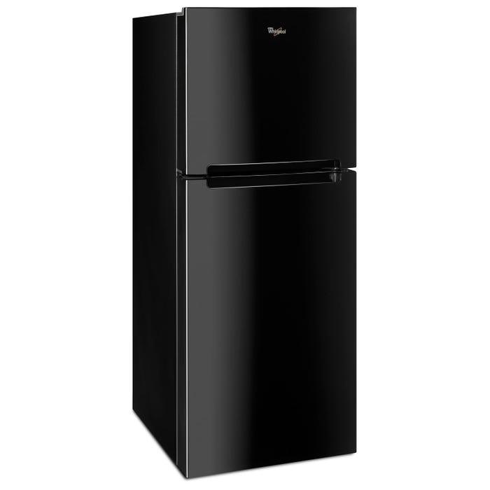 Whirlpool 25 inch wide 11 cu.ft. Top Freezer Refrigerator in black WRT111SFDB