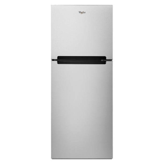 Whirlpool 24 inch 11 cu.ft. Top mount refrigerator in stainless steel WRT111SFDM