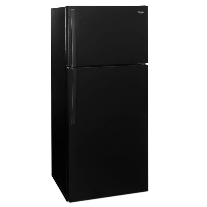 Whirlpool 28 inch Wide 14 cu.ft Top Freezer Refrigerator with Freezer Temperature Control in black WRT134TFDB