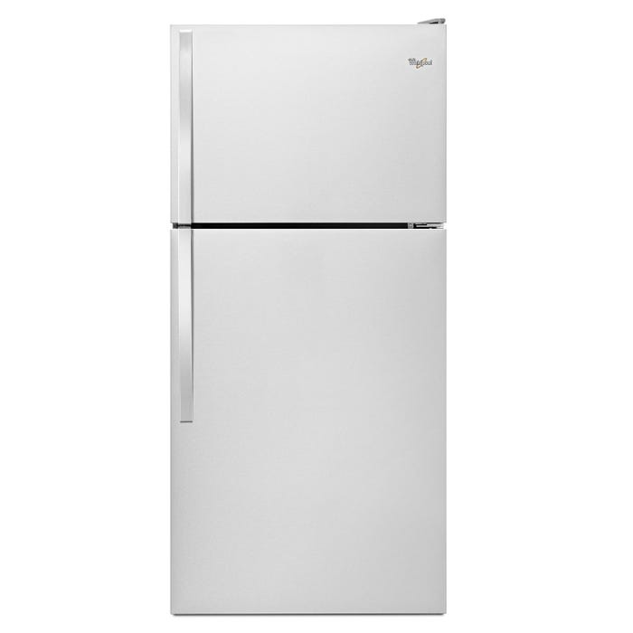 Whirlpool 30 inch 18 cu.ft. Top Freezer Refrigerator in black WRT148FZDB