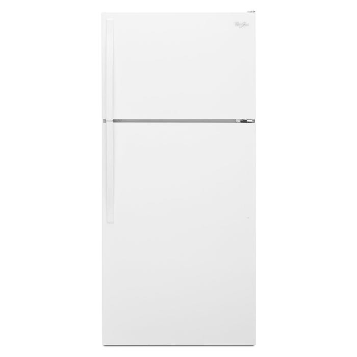 Whirlpool  28 inch wide 14 cu.ft. Top Freezer Refrigerator with Optional Ice maker in white WRT314TFDW