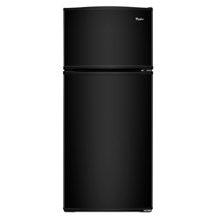 Whirlpool 28 inch Wide 16 cu.ft. Top Freezer Refrigerator with Improved Design in black WRT316SFDB