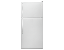 Whirlpool 30 inch 18 cu. ft. Top-Freezer Refrigerator in Stainless Steel WRT318FZDM