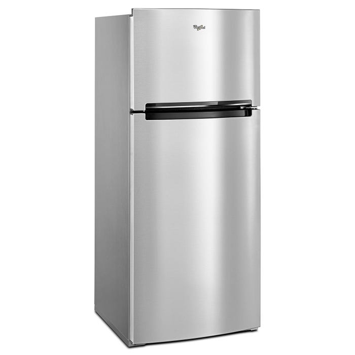 Whirlpool 28 inch 18 cu.ft. top mount refrigerator in stainless steel WRT518SZFM