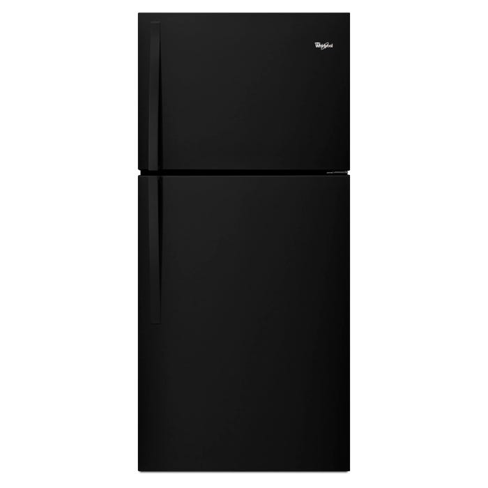 Whirlpool  30 inch Wide 19.2 cu.ft. Top Freezer Refrigerator EZ Connect Icemaker Kit Compatible in black WRT519SZDB