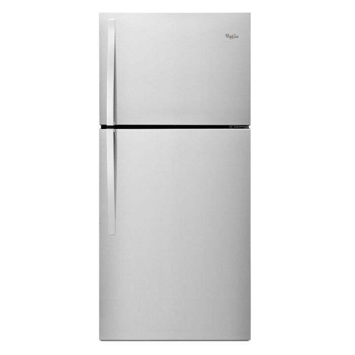 Whirlpool 30 inch Wide 19 cu.ft. Top Freezer Refrigerator EZ Connect Icemaker Kit Compatible in stainless steel WRT519SZDM