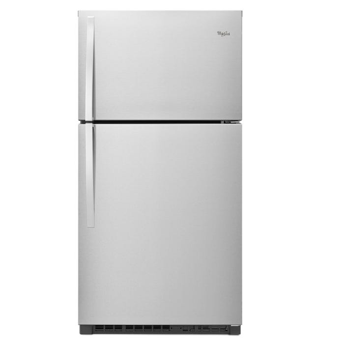 Whirlpool  33 inch 21.31 cu.ft. Top Freezer Refrigerator with Optional EZ Connect Icemaker Kit in stainless steel WRT541SZDM