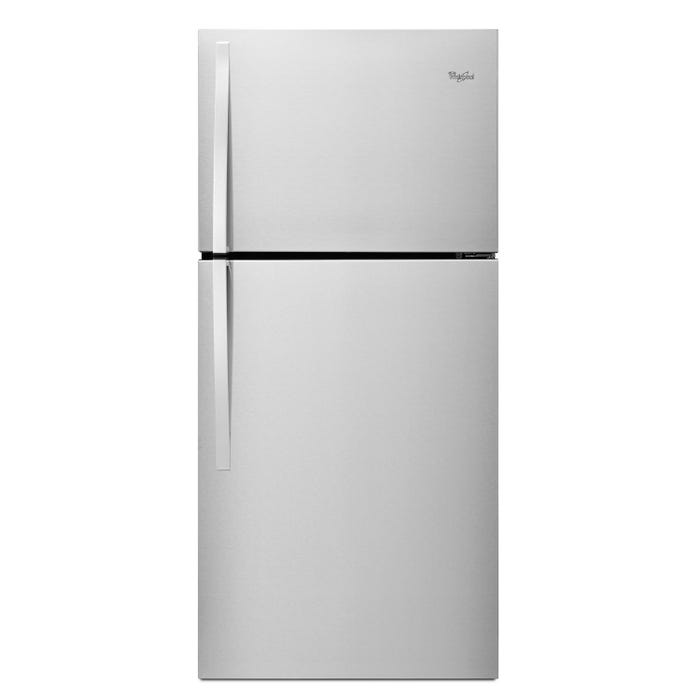 Whirlpool  30 inch Wide 19.2 cu.ft. Top Freezer Refrigerator EZ Connect Icemaker Kit Compatible in stainless steel WRT549SZDM