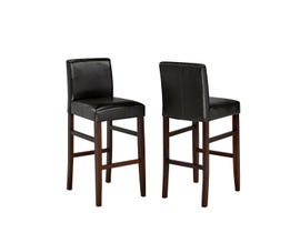 "Brassex 29"" faux leather bar stool (set of 2) in espresso WS5411-5"