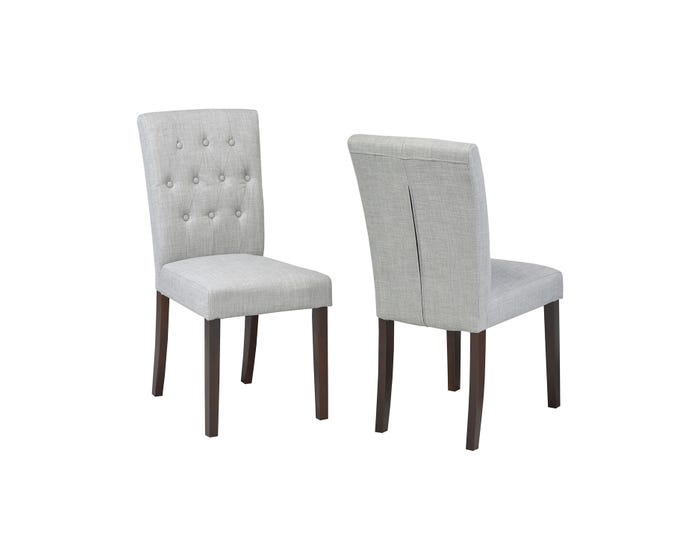 Enjoyable Brassex Tufted Accent Chair Grey Set Of 2 Ws5700 Grey Squirreltailoven Fun Painted Chair Ideas Images Squirreltailovenorg