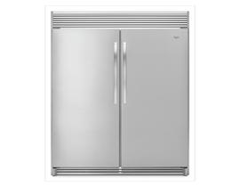 Whirlpool 2-Piece Appliance Package 31 inch 18 cu. ft. Refrigerator & 18 cu. ft. All-Freezer in Stainless Steel WSR57R18DM WSZ57L18DM