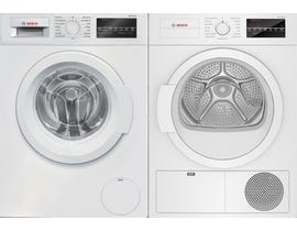 Bosch Laundry Pair 2.2 cu. ft. Washer WAT28400UC & 4.0 cu. ft. Electric Dryer in White WTG86403UC