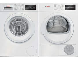 Bosch Laundry Pair 2.2 cu. ft. Washer WAT28400UC & 4.0 cu. ft. Electric Dryer in White WTG86400UC