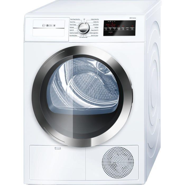 Bosch 24 inch 4.0 Cu. Ft. Condensation Dryer 800 Series White WTG86402UC