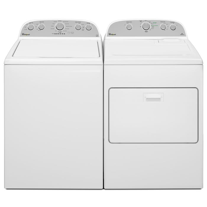 Whirlpool  5.0 cu.ft.  high efficiency top load washer WTW5000DW 7.0 cu.ft. HE dryer YWED49STBW