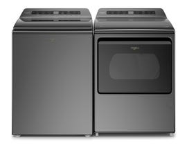 Whirlpool Laundry Pair 6.1 cu. ft. Top Load Washer WTW7120HC 7.4 cu. ft. Steam Dryer YWED7120HC