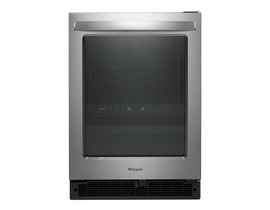 Whirlpool 24 inch 5.2 cu. ft. Undercounter Beverage Center in Stainless Steel WUB50X24HZ