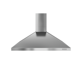 """Whirlpool 36"""" Gold 300 CFM Wall Mount Canopy Hood in Stainless Steel WVW7336JS"""