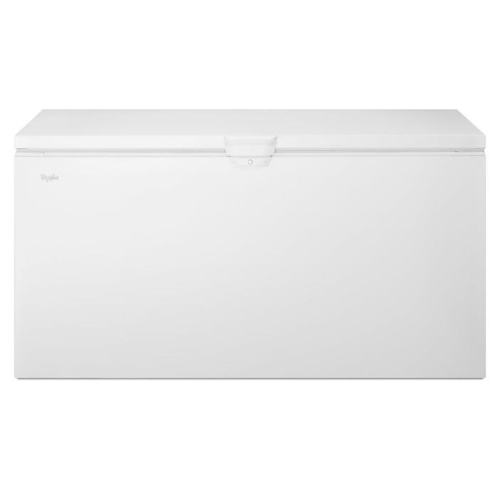 Whirlpool 66 1/4 inch 22 cu.ft. chest freezer in white WZC3122DW