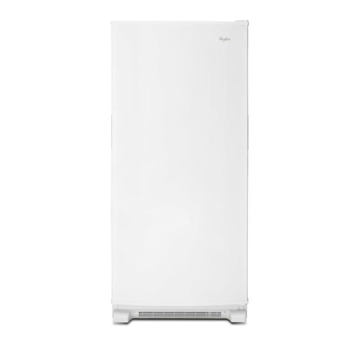 Whirlpool 30 1/4 inch 18 cu.ft. upright freezer in white WZF34X18DW