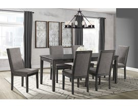 1b2592ffc3f High Society 7 Piece Wood Dining Set in Grey DSO100
