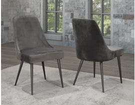 Brassex Lune Dining Chair (Set of 2) in Grey XA682-GR