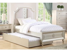 Avalon Twin Bed with Trundle in Platinum Y00481