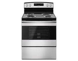Amana 30 inch 4.8 cu.ft. electric range freestanding with coil top in stainless Steel YACR4303MFS