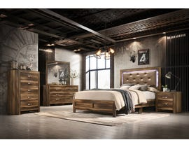 Cosmos Yasmine Series Upholstered Bedroom Set in Brown