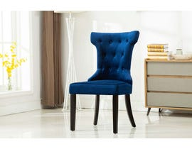 Kwality Furniture Erica Collection Accent Chair with Black Handle in Blue- Set of 2 YD-200
