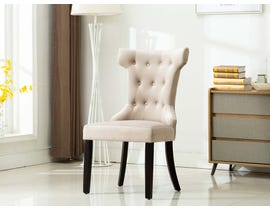Kwality Furniture Erica Collection Accent Chair (Set of Two) with Black Handle in Grey YD-200